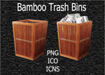 Bamboo Trash Bins by Arclight-17