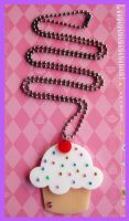 Cupcake Acrylic Necklace by cherryboop