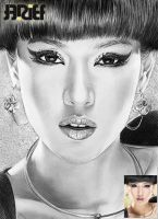 Dian Sastro Make Up Drawing by riefra