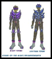 Kamen Rider Deamon-other forms by KyuubiNight