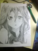Inori Yuzuriha in pencil (screenshot) by shiroiyukii