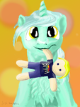 Lyra's Teddy-Human by JackCaptions2015