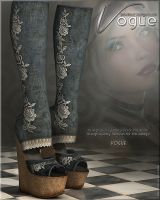 Vogue for Shredded Wedge Boots by cosmosue