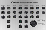 Canon DSLR Icon Pack HQ 1.1 by dSigns4us