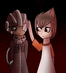 Masked Man and Fuel .:ArtTrade:. by doog97