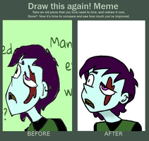 Draw This Again Meme (Zombie Bro) by LaughterLover