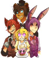 Five nights at Freddys Gijinka by Mangopoptart