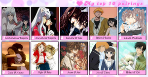 My Favorite Anime,Manga Couples Meme by Isobel-Theroux