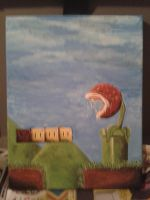 Piranha Plant Painting by thecrass1