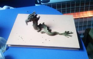 My first 'Dragon' made with clay by lihnida