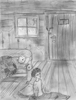 Harry and a pig on a couch by Hillary-CW