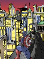 Captain America and Batman by StrappedComics