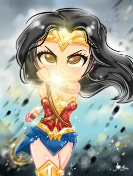 Wonder Woman Chibi by JamilSC11