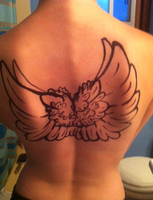 Wing Temporary Tattoo by WolfTwine