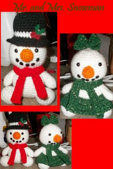Mr. and Mrs. Snowman by craftfan23