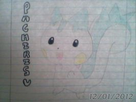 Pachirisu - Pokemon Diamo and Pearl - Generation 4 by Sappires1001