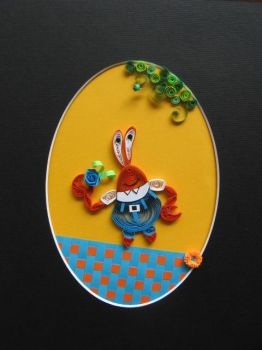Mr.H.Krabs in Quilling by eidatwong