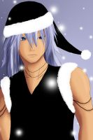 Xmas09 - Christmas Town Riku by Midnight-Dark-Angel