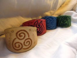 Avatar Leather Bracelets by TheScreamingNorth