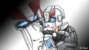 Prowl N baby Prowl by BloodyChaser