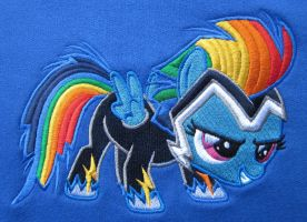 Rainbow Dash Zap Costume embroidered by imageconstructor