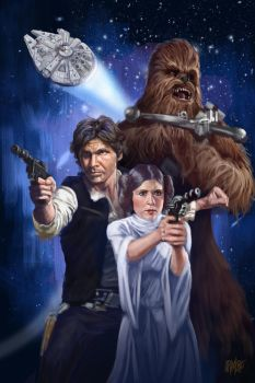 13 NoH Day 10 Han Leia and Chewie by Grimbro