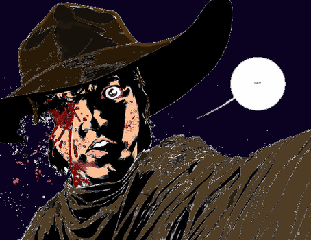 'The Walking Dead' Colored - Carl Loses His Eye by RustyWarhead