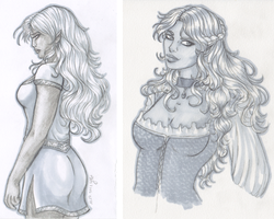 RPG Session Copic Sketches by Yako