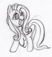 Quick Fluttershy sketch 6 by otto720