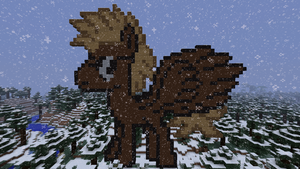 Elodras OC Pixelart *snow* (Remastered) by wolfsman2
