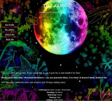 Rainbow Night Journal Skin V2 by SweetSuicideKagome