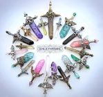 January Crystal Sword Charms - Ideationox by Ideationox