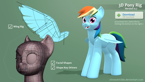 Rainbow Dash 3D Rig (V.0.7) [Download] by ChronoTrickle