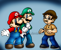 long lost bro  O_o by Nintendrawer