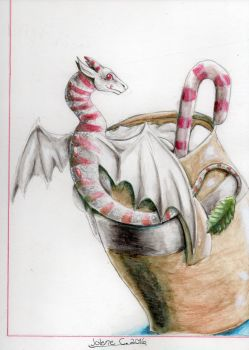 FOR SALE: Peppermint Dragon by JcArtSpace