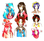 Free Watercolor Doodles by oofuchibioo