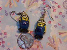 Two-eyed Minion Earings by QuoteCentric