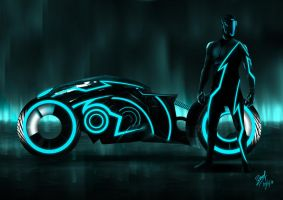 Tron racer, A fan art. by devianchild