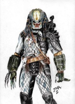 Predator on pencils by jmacomic