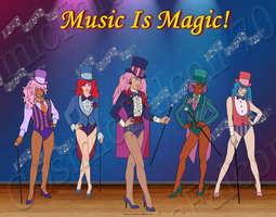 Music Is Magic Ensemble by CosmicFalcon-70