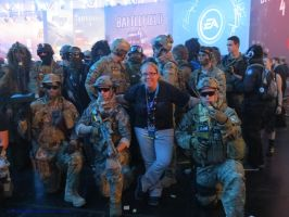 Me with the Battlefield Guys by NODSOLDIERGIRL