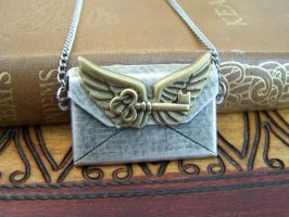 SteamPunk Winged Key Letter by SteamPunkJennie