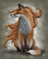 Longhaired fox by Bjirf