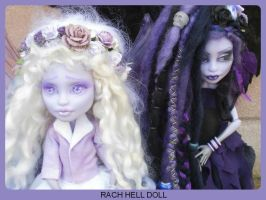 monster high custom Nightmyst and Nightshade fairy by Rach-Hells-Dollhaus
