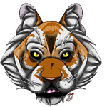 Golden tiger pixel by Sneakysniper11