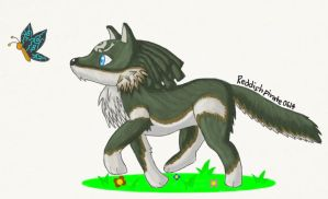 Wolf Link: Following the Butterfly by reddishpirate0614