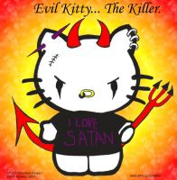 Kitteh is EVIL by disturbed-angel