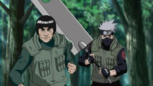 Might Guy and Kakashi Hatake by TheBoar