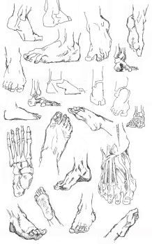 Feet Sketches by IsySheldon