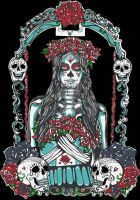 Day of the Dead shirt design,  sold at Hot Topic by BrittanyHanks